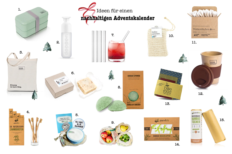 Ideen für einen nachhaltigen Adventskalender - Frisch