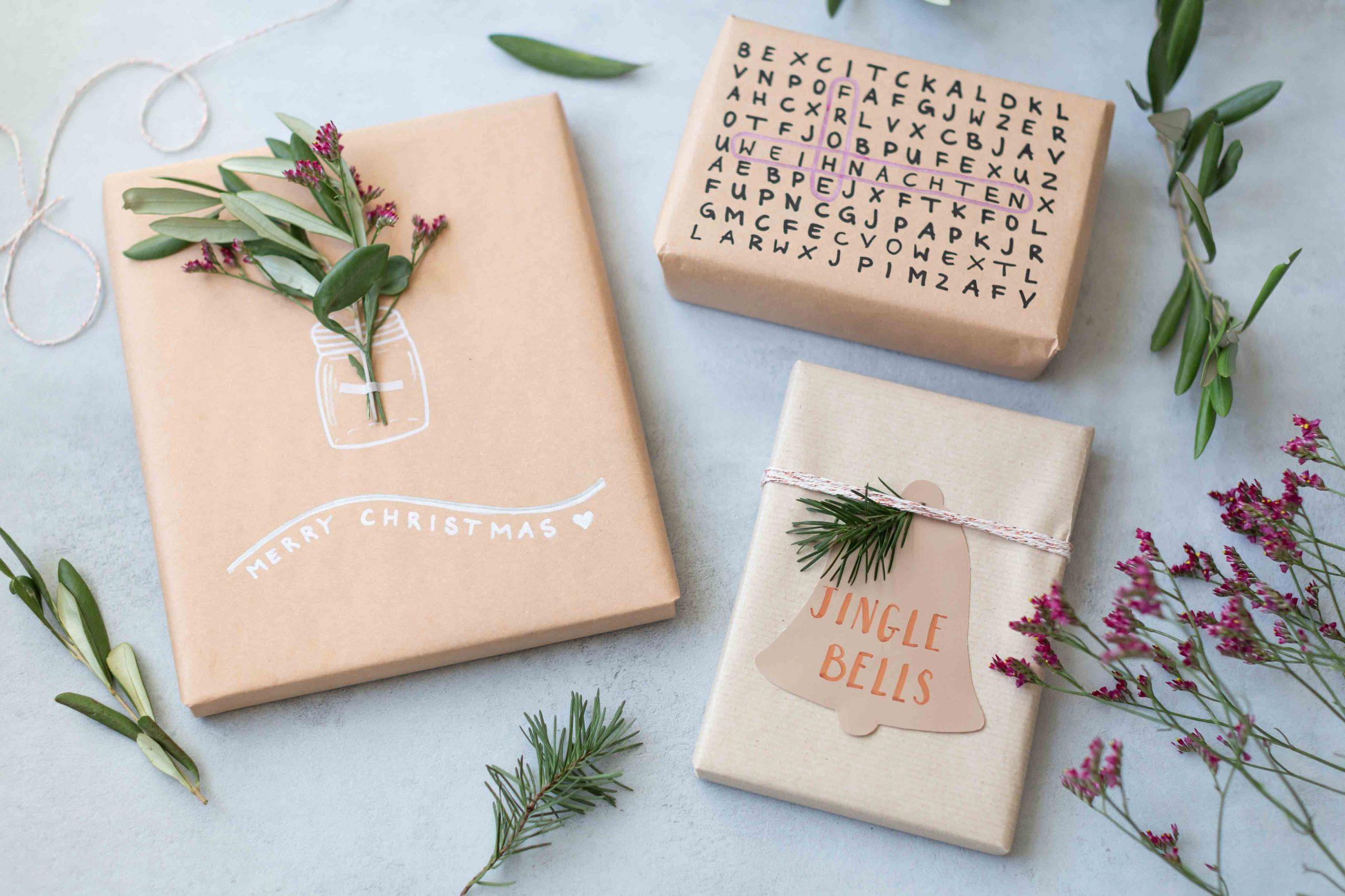 Verpacken rätsel geschenk als Gutschein als